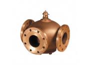 Клапан регулирующий Broen L3F-080 ф/ф Kv=80/69 трехходовой латунный Pу10 Tmax 120 C