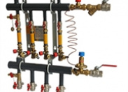 Узел распределительный этажный Danfoss TDU.3 Ду50-3L-32-ASVI25-MSVB15 на 3 отвода, подключение слева