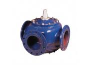 Клапан регулирующий Broen Clorius G3FM-Т-250 трёхходовой ф/ф Ду 250 Ру 16 Tmax=100oC Kv=1500/2100, чугун (АВ-слева)