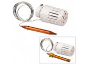 """Головка термостатическая для контроля температуры теплоносителя для систем напольного отопления, с каппилярной трубкой и погружным датчиком 2m с фитингом 1/2"""" НР с прокладкой"""