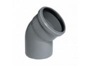 Отвод серый 45 град-110мм (45) внутренняя канализация Valfex (20102110М-0045)