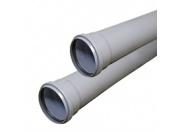 Труба канализационная серая BASE ф110 с раструбом L=1 м, толщ.ст.2.7 (10) внутренняя канализация Valfex