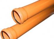 Труба канализационная рыжая ф110 с раструбом L=1 м толщ.ст.3.4 (10) наружная канализация Valfex