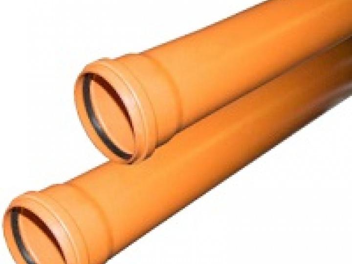 Труба канализационная рыжая ф110 с раструбом L=1.5 м толщ.ст.3.4 (10) наружная канализация Valfex