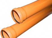 Труба канализационная рыжая ф160 с раструбом L=0,5 м толщ.ст.4.9 (6) наружная канализация Valfex