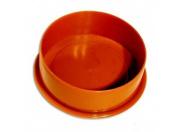 Заглушка рыжая D 110мм (250) наружная канализация Valfex
