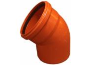 Отвод рыжий 45 град-110мм (45) наружная канализация Valfex