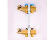 """Коллекторная группа HKV с регулировочными и термостатическими вентилями WATTS Ind 1""""x3/4""""ЕК 2 выхода"""