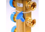 """Коллекторная группа HKV с регулировочными и термостатическими вентилями WATTS Ind 1""""x3/4""""ЕК 11 выходов"""