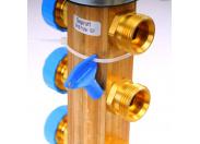 """Коллекторная группа HKV с регулировочными и термостатическими вентилями WATTS Ind 1""""x3/4""""ЕК 9 выходов"""