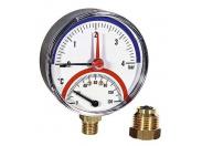 Термоманометр радиальный F+R828 WATTS Ind 4бар 120 град.C