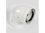 Отвод Baxi 90° d=80 алюминиевый, эмалированный
