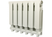 Global ISEO 350 Global ISEO 350 6 секций радиатор алюминиевый боковое подключение (белый RAL 9010)
