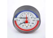 Термоманометр аксиальный F+R818 WATTS 10бар 120 град.C