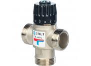 """STOUT  Термостатический смесительный клапан для систем отопления и ГВС 1"""" НР   35-60°С KV 1,6"""