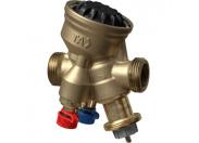 Комбинированный балансировочный регулирующий клапан TA-COMPACT-P, DN20, наружная резьба, AMETAL