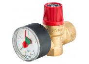 Watts  SVM 30-1/2 Предохранительный клапан с манометром 3 бар