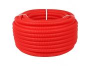 STOUT  Труба гофрированная ПНД, цвет красный, наружным диаметром 25 мм для труб диаметром 16-22 мм