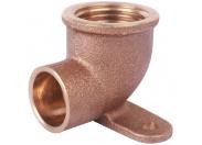 Sanha  4472g настенная водорозетка, с 2 точками крепежа, бронза 15x1/2, для медных труб под пайку