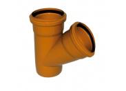 Sinikon  НПВХ Тройник D110 x 110 x 87° для нар. канализации