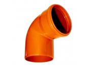 Sinikon  НПВХ Отвод D160 x 45° для нар. канализации