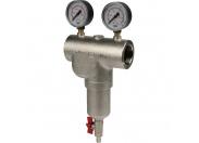 Itap  189 1 1/2 Фильтр сетчатый муфтовый 100 мкр. с 2 манометрами и спускником
