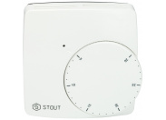 STOUT  Проводной электронный термостат WFHT-BASIC со светодиодом (норм.закр.)