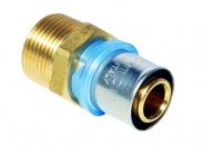 N.T.M.  Муфта с наружной резьбой 20х1/2'' для металлопластиковых труб прессовой