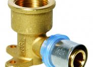 N.T.M.  Водорозетка 20x3/4'' для металлопластиковых труб прессовой