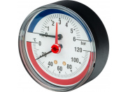 "Watts  FR 818(TMAX) 6x1/2"" Термоманометр аксиальный, 0-6 бар"