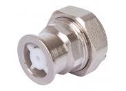 """STOUT  Разъемное соединение с плоским уплотнением и обратным клапаном, никелированное 1"""""""