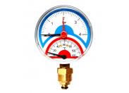 """Watts  FR 828(TMRA) 10x1/2"""" Термоманометр радиальный, 10 бар"""