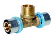 N.T.M. Тройник с наружной резьбой для металлопластиковых труб прессовой 32x1''x32