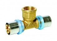 N.T.M. Тройник для металлопластиковых труб (внутр. резьба, 32х1''x32, прессовой)