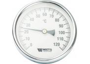 Watts  F+R801(T) 100/50 Термометр биметаллический  с погружной гильзой, D100 мм