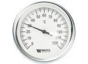 Watts  F+R801(T) 80/100  Watts Термометр биметаллический  с погружной гильзой  100 мм