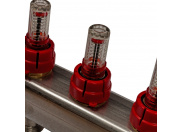 STOUT  Коллектор из нержавеющей стали в сборе с расходомерами 7 вых.