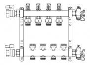 REHAU Коллектор с расходомерами HKV-D 6