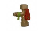 Cоединение быстроразборное Reflex SU R 3/4 с автоматическим запорным клапаном и сливом
