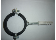 Кронштейн 2' д/стальной трубы металл с резин уплотнителем