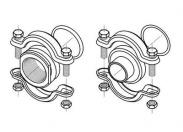 Трубное соединение FlexiClamp Rp 1 1/2 PN25 EPDM (1 шт. с упл. и креп.) Grundfos