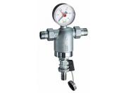Фильтр 1/2 ВР-ВР, с манометром, 100мкм, Max: 95 °C, 25 бар