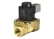 """Клапан соленоидный Danfoss EV225B 1/2"""" PTFE Kv=2,2 нормально-закрытый, с катушкой 230V 50Hz"""
