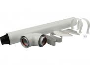Дымоход коаксиальный для прохода через стену универсальный комплект D 60/100