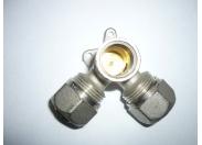 Водорозетка обж-В-обж 20х1/2'х20 трехплоскостная никелир.