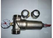 Фильтр НН 1'1/4 промывной с манометром, сгонами, латунной колбой
