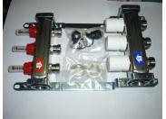 Колл.группа 1x3/4 3 вых с расходомерами и термостатическими вентилями, нерж. сталь