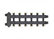 Коллектор отопления Warme WKD.R.85К.F (Дублер компакт с гидроразделителем и накидными гайками) на 3+3+1 контура потребителей (до 85 кВт)