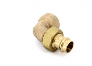 Угол пресс-В разъёмное соединение, плоская прокладка, бронза Sanpress SC-Contur 18x3/4'