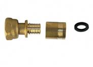 Концовка для коллектора под PEX 1/2*20 с нак. гайкой и с гильзой